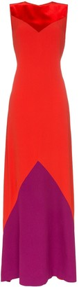 Givenchy Contrast panel maxi dress