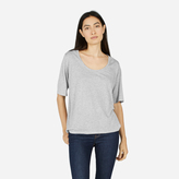 Everlane The Luxe Drape Cropped Scoop-Neck Tee
