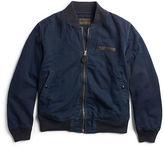 Ralph Lauren RRL Indigo Cotton Bomber Jacket
