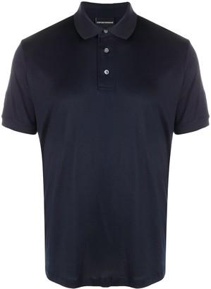 Emporio Armani Logo Short-Sleeved Polo Shirt