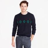 J.Crew Italian cashmere crewneck sweater in argyle
