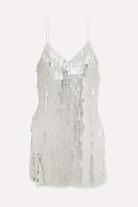 Alice + Olivia Contessa Paillette-embellished Chiffon Mini Dress - White
