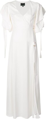 Cynthia Rowley Merissa wrap maxi dress