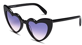 Saint Laurent Women's Loulou Heart Sunglasses, 54mm
