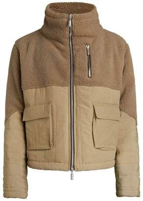 Rhude Full-Zip Sherpa Puffer Jacket