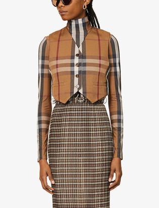 Burberry Checked woven waistcoat