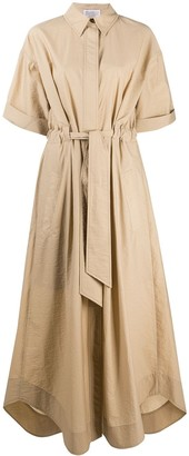 Brunello Cucinelli Belted Shirt Maxi Dress