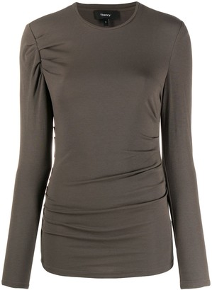 Theory Fitted Long-Sleeve Top