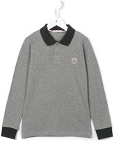 Moncler long sleeve polo shirt - kids - Cotton - 8 yrs