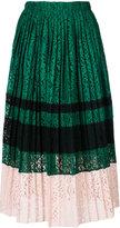 No.21 colour block pleated skirt - women - Silk/Cotton/Polyamide/Acetate - 42