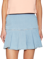 Love Moschino Women's Pleated Denim Mini Skirt