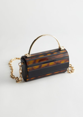 And other stories Tortoise Gold Chain Bag