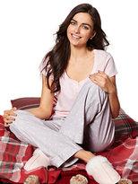 New York & Co. 2-Piece Pajama Set - Grey Polka Dot