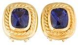 David Yurman 18K Iolite Albion Earrings