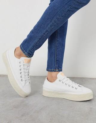 Converse chuck taylor espadrille lift platform ox white sneakers