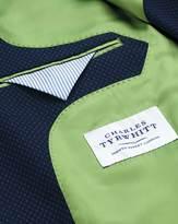 Slim Fit Royal Blue Birdseye Wool Jacket