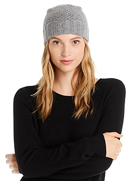 C by Bloomingdale's Waffle Knit Cashmere Hat - 100% Exclusive