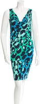 Diane von Furstenberg Abtstract Print Sleeveless Dress