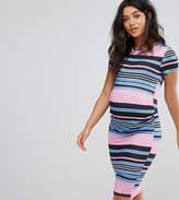 Asos PETITE T-Shirt Bodycon Dress in Stripe Print