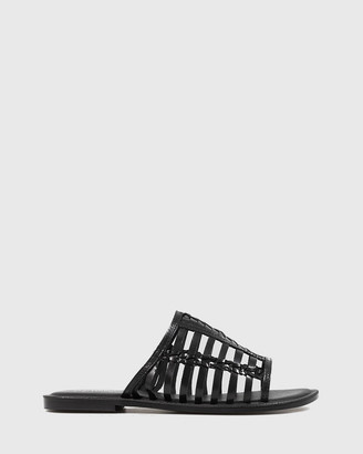 Wittner - Women's Black Strappy sandals - Ilex Leather Slip On Flat Sandals - Size One Size, 38 at The Iconic