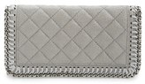 Stella McCartney Women's 'Falabella - Shaggy Deer' Wallet - Grey