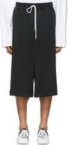 Miharayasuhiro Black Oversized Track Shorts