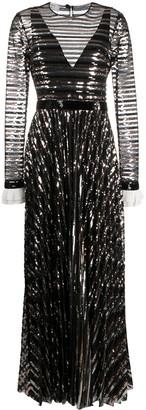 Philosophy di Lorenzo Serafini Sequin Embellished Gown