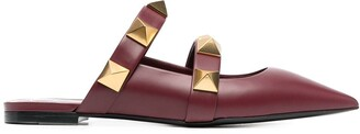 Valentino Rockstud-embellished pointed mules