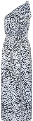 Alessandra Rich Printed silk jacquard dress