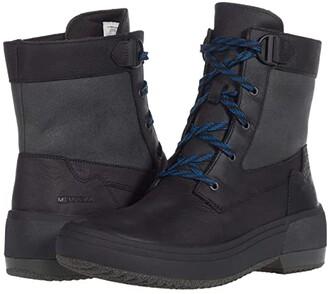 Merrell Haven Mid Lace Waterproof (Blackout) Women's Boots