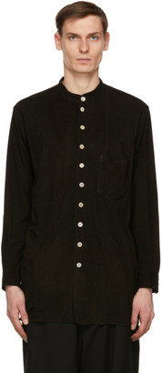 BED J.W. FORD Black Suede Over Shirt Jacket