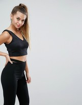 Asos Top With Deep Plunge In Scuba