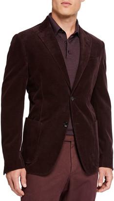 Ermenegildo Zegna Men's Sea Island Cotton Corduroy Jacket