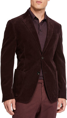 Ermenegildo Zegna Men's Sea Island Cotton Corduroy Jacket