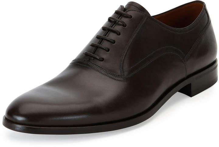 Bally Bruxelles Leather Oxford Dress Shoe Black