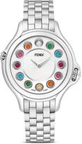 Fendi Crazy Carats Stainless Steel Rotating Gemstones Watch, 38mm