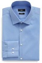 BOSS Slim Fit Easy Iron Microcheck Dress Shirt