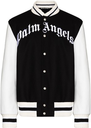 Palm Angels x Browns 50 logo bomber jacket