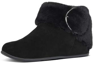 FitFlop Tilda Buckle Suede Slipper Booties