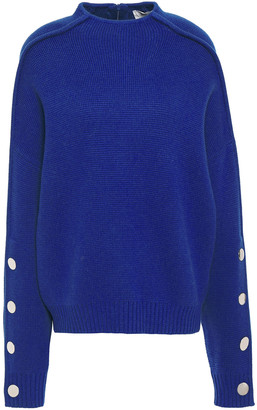 BA&SH Asta Button-detailed Wool And Cotton-blend Sweater