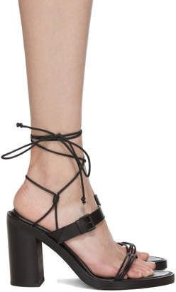 Ann Demeulemeester SSENSE Exclusive Black Block Heel Sandals