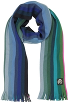 Paul Smith Gradient Stripe Neon Edge Wool Men's Scarf