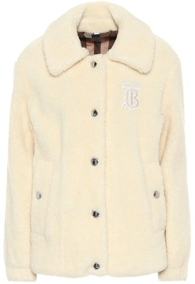 Burberry Wool-blend fleece jacket