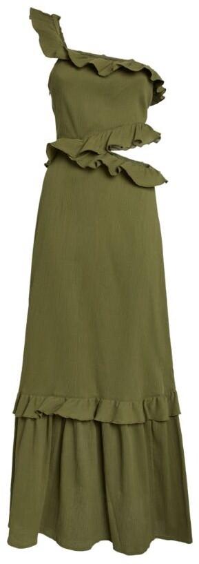 Peony Swimwear One-Shoulder Pear Maxi Dress