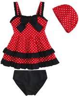 LOSORN ZPY Kid Toddler Baby Girls Bathing Suit Lace Bow Dot Two Piece Swimsuit Swimwear 9