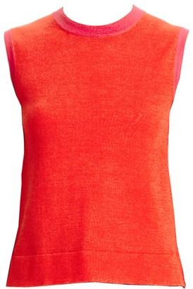 Carolina Herrera Crewneck Cashmere & Silk Shell