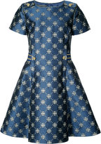 Alberta Ferretti flared jacquard dress - women - Polyester/Acetate/Rayon/other fibers - 40