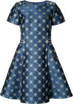Alberta Ferretti flared jacquard dress
