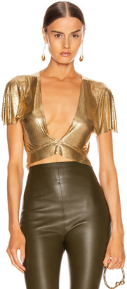 Fannie Schiavoni Diane Top in Gold | FWRD