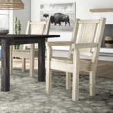 Abella Hand-Crafted Captain's Solid Wood Dining Chair Loon Peak Color: Natural